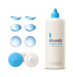 realistic contact lens container mock up vector image