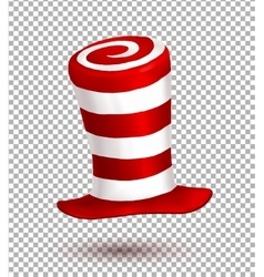Red and white colors stripes realistic vector