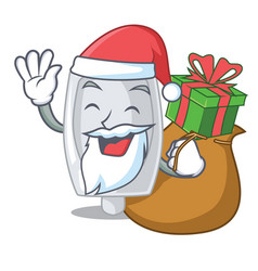 Santa with gift interior urinal in the a character vector