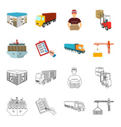 Sea freight signature of delivery documents vector