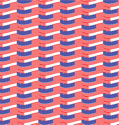 Seamless pattern usa flag vector image