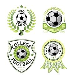 set green vintage football labels vector image