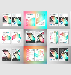 set of brochure templates flyers design or vector image