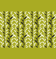 simple flat tropical bamboo pattern vector image