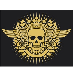 Skull symbol - skull tattoo design vector