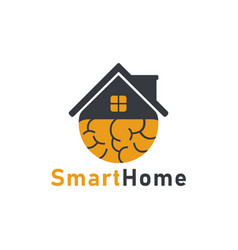 Smart home icon logo design template vector