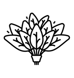 Spinach branch icon outline style vector