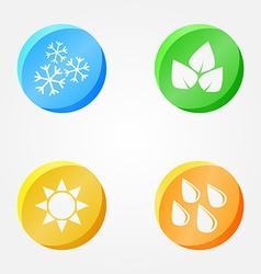 Symbols 4 seasons - winter spring summer autumn vector
