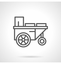 Trailer with water black line icon vector