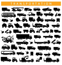 transportation pictograph vector image