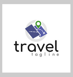 travel logo concept vector image