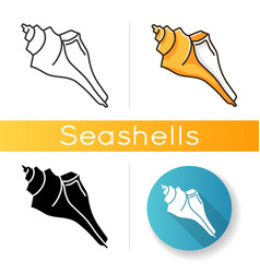 Triton shell icon vector