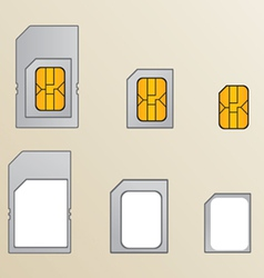 Types of SIM cards vector