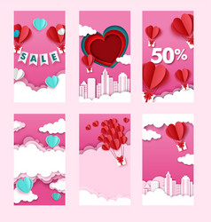 valentines day sales and discounts social media vector image