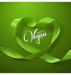 Vegan Market Sign vector image
