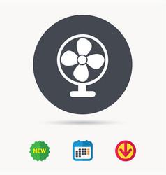 Ventilator icon air ventilation or fan sign vector
