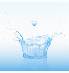 water splash in shape crown with spray droplets vector image