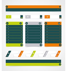 Web site design element vector