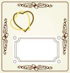 Wedding card vintage desing vector