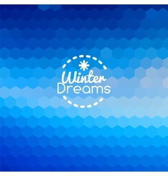 Winter blueprint blue abstract background vector