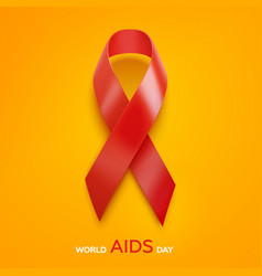 World aids day concept aids awareness red ribbon vector