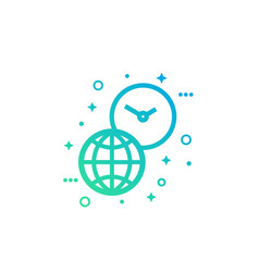 world time icon on white vector image