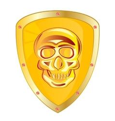 Yellow shield vector image