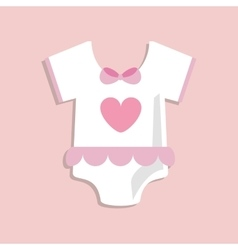 Baby cloth of baby shower card design vector image