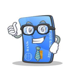 businessman credit card character cartoon vector image