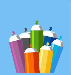 cans of spray paint set vector image vector image
