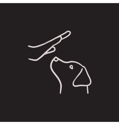 Dog training sketch icon vector image vector image
