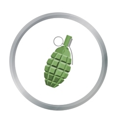 Grenade icon cartoon Single weapon icon from the vector image vector image