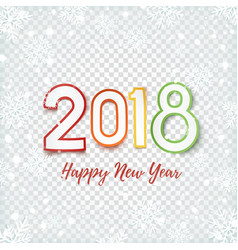 happy new year 2018 abstract design vector image