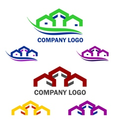 Home and construction logo and web icon set vector