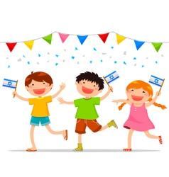 israeli kids vector image vector image