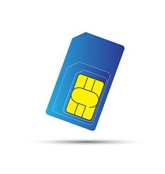 Mobile phone sim card standard micro and nano sim vector image