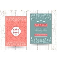 Nautical save the date cards Marine Wedding vector image vector image
