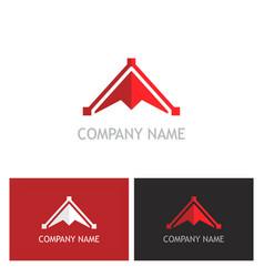 triangle arrow abstract logo vector image