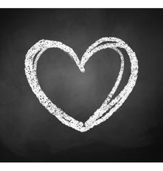 Chalkboard drawing of heart vector image vector image