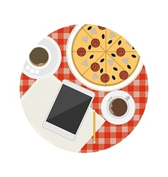 Flat icon for business lunch table vector image