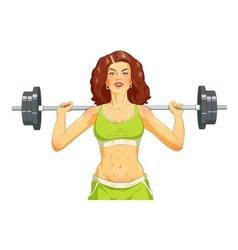 Girl doing fitness exercise vector image