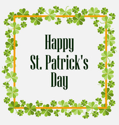 happy st patricks festive background with vector image vector image