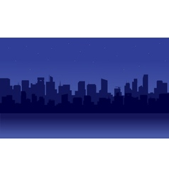 Silhouette of skyscrapers vector image