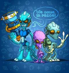 Alien invaders vector image vector image