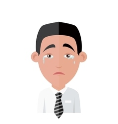 Emotion Avatar Man Crying Success vector image vector image