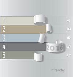 Infographics paper roll design vector image vector image