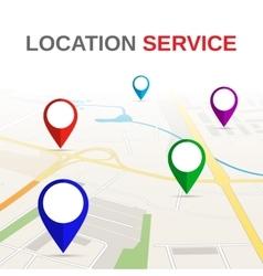 Navigation Concept Road City Map vector image