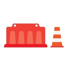 road barrier cone vector image