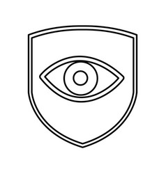 shield insurance with human eye isolated icon vector image vector image
