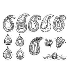 Abstract Hand-Drawn Paisley Pattern design vector image vector image